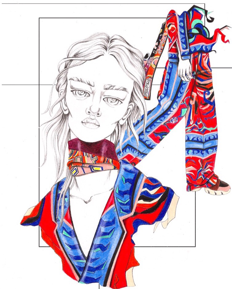 Shannon Avril Martin, fashion illustration.
