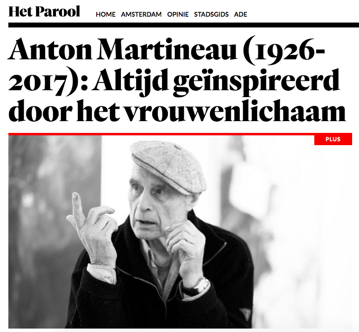 Het Parool - -In memorian for our artist Anton Martineau-Read here