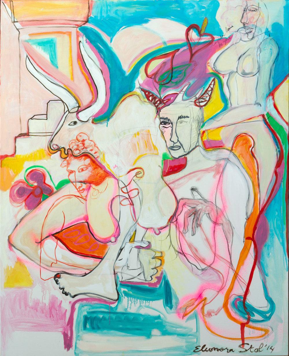 Eleonora-Stol, Roma con Amore, oil on canvas, 140 x 160, 2014.jpg