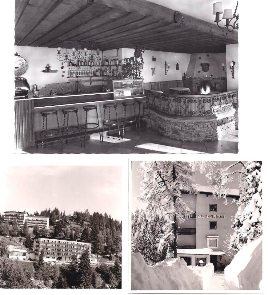 Wurde das alte Holzhaus abgerissen und durch einen mordernen Bau ersetzt. Aus der Alpenpension Zaubek wurde das 4 Sterne Sonnenhotel Zaubek