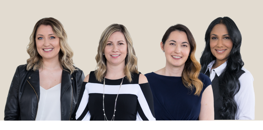 From left to right: Jessica Kizovski, Lead Formulator;  Alison Crumblehulme, President;  Carley Miki, Research Scientist;  and Varuna Manoo, Brand Ambassador