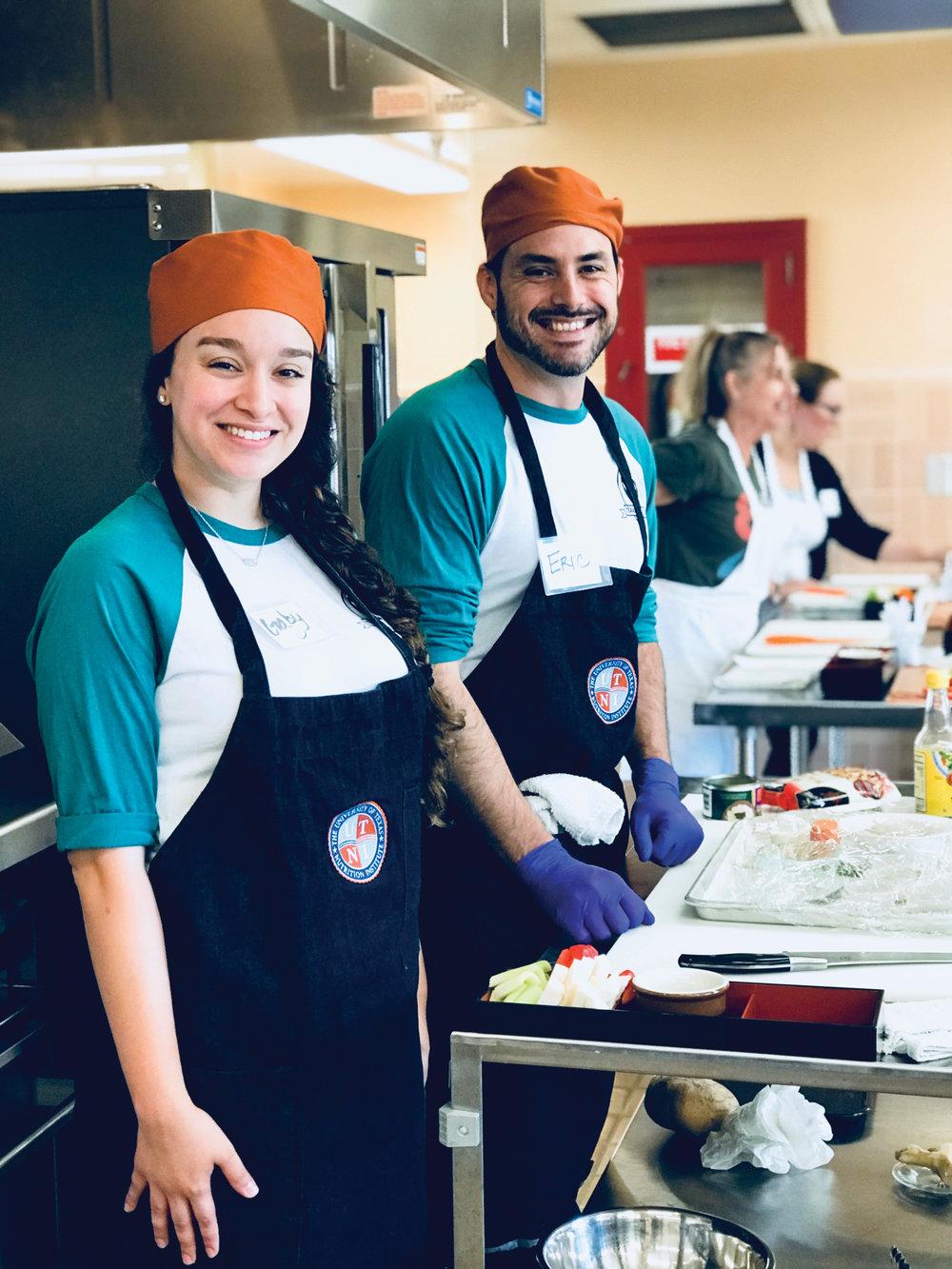 Susie's Kitchen students Gaby Sanchez and Eric Jones.