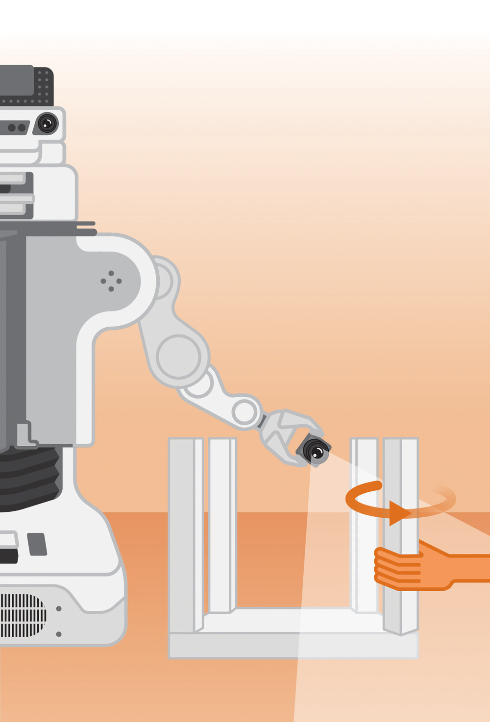 Show and tell.   Demonstrate the task as the robot watches via camera and listens to verbal instructions. Then, the robot will try to copy. You provide feedback until the robot masters the task.