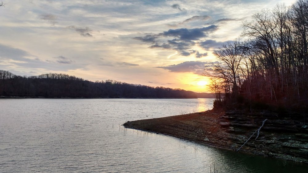 Winter sunset at Lake Cumberland