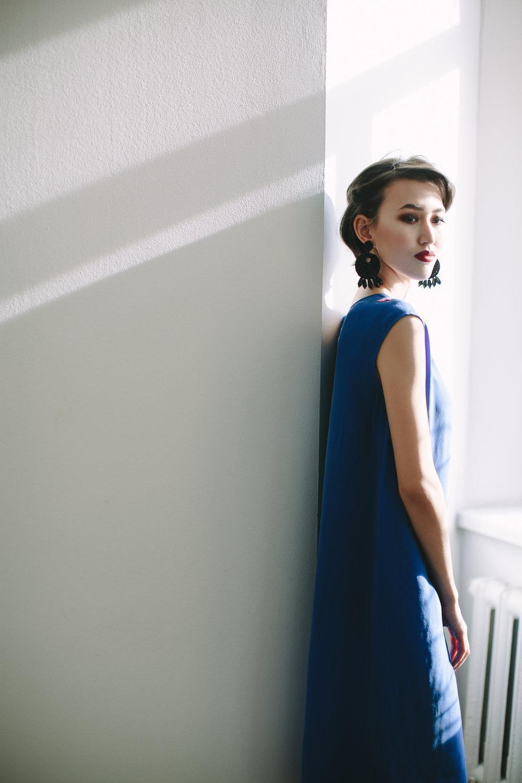 Шелковое платье, 42000тнг.