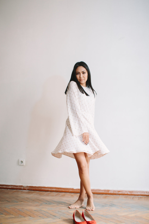 Платье из шелка, 42000тнг.