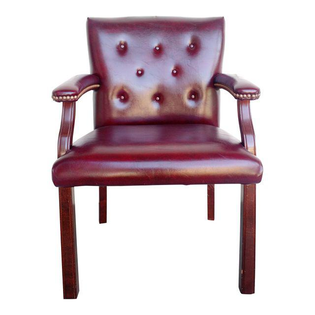 Oxblood Executive Guest Chair