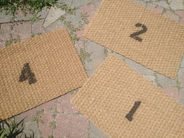 Easy to customize basic DIY door mat with spray paint and stencil