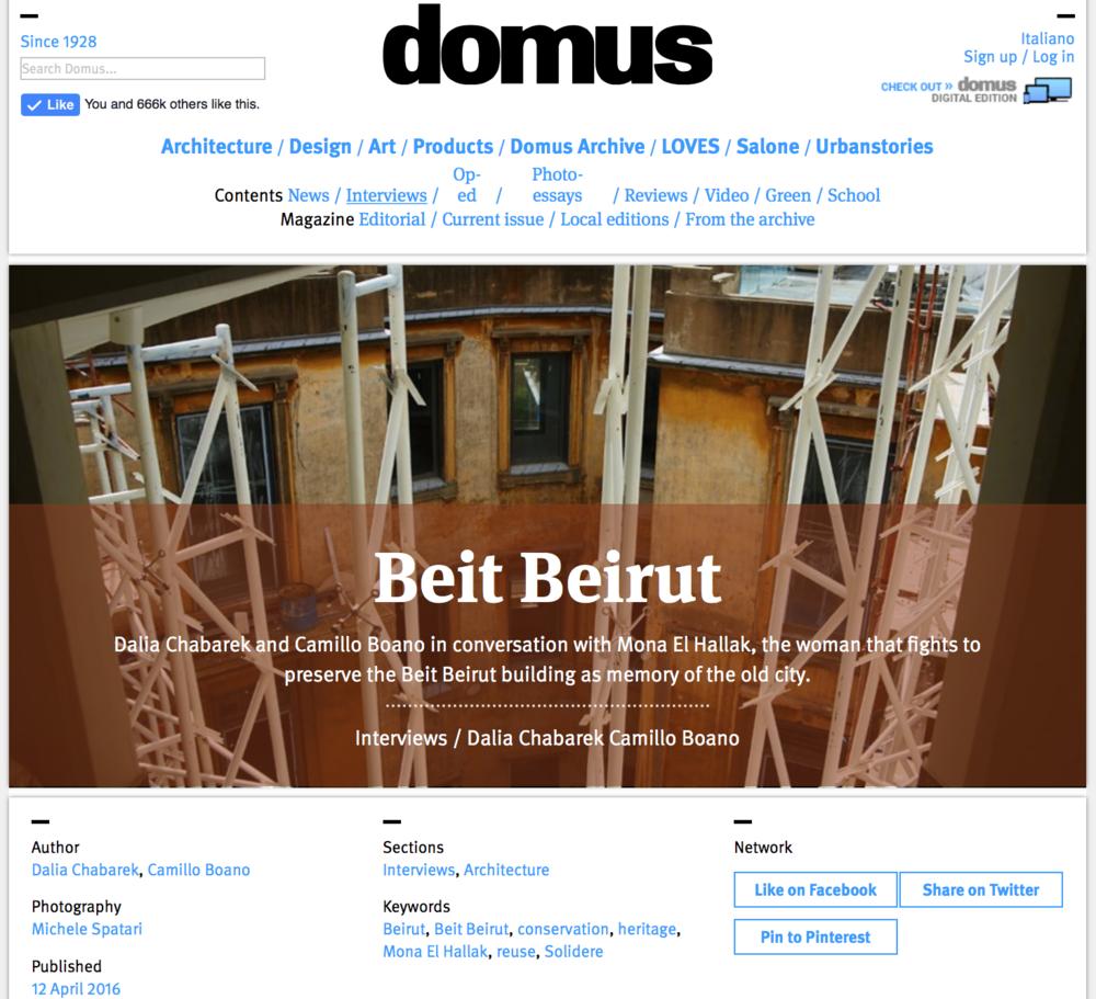 Domus Web - 2016
