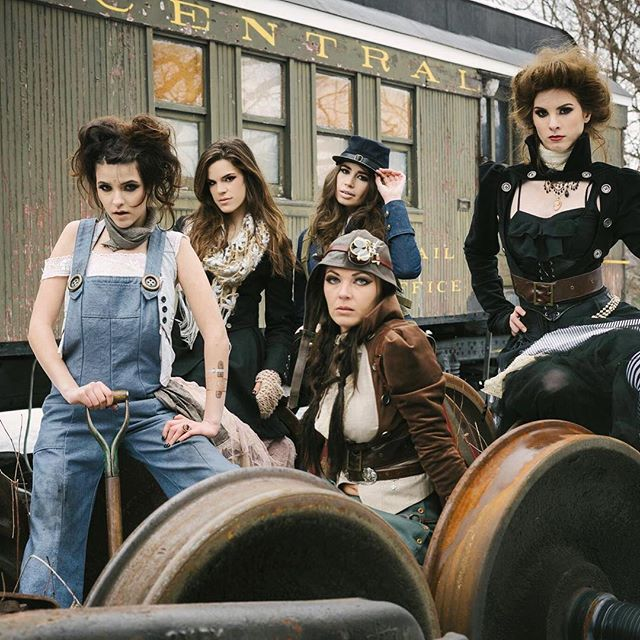 """Ok ladies, now let's get in formation""💪🏼✨...I love this BTS shot from my Steampunk Couture fashion shoot with @nhmagazine a few years back 💕📸: @3sixtyphotography @katopunk"