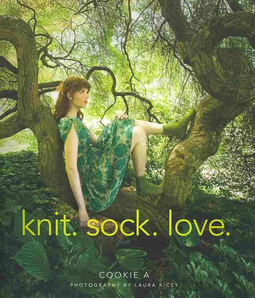 Chloe Modeled for the book 'Knit.Sock.Love'