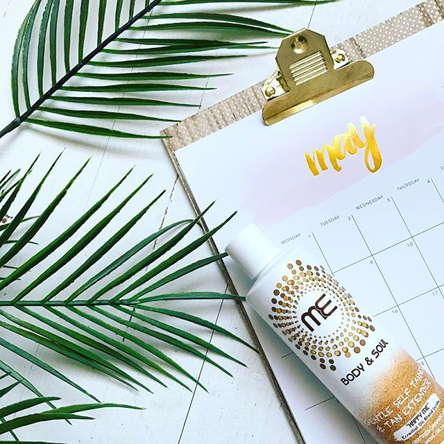 Hooray for May! Have you started preparing your skin for warmer days? Get that natural healthy glow of your skin deserves with @me_bodyandsoul gentle self tanner and tan extender ✨ . . . #mebodyandsoul #happyme #madewithlove #nj #nyc #glow #natural #organicbeauty #may #hellomay #flatlay #productshot #igdaily