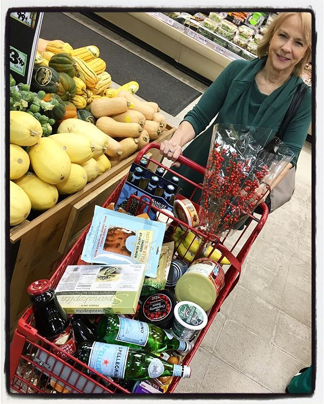 Stocking up for the holidays.#tistheseason #shoppingcart #traderjoes #partyfavors #shopping