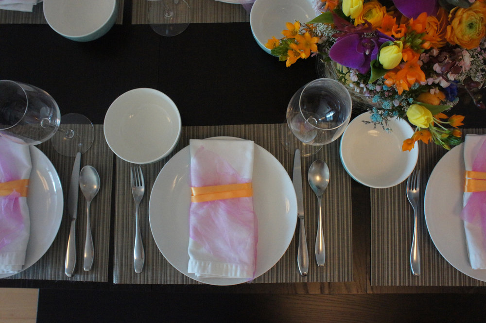 easter place setting and colourful napkin.JPG