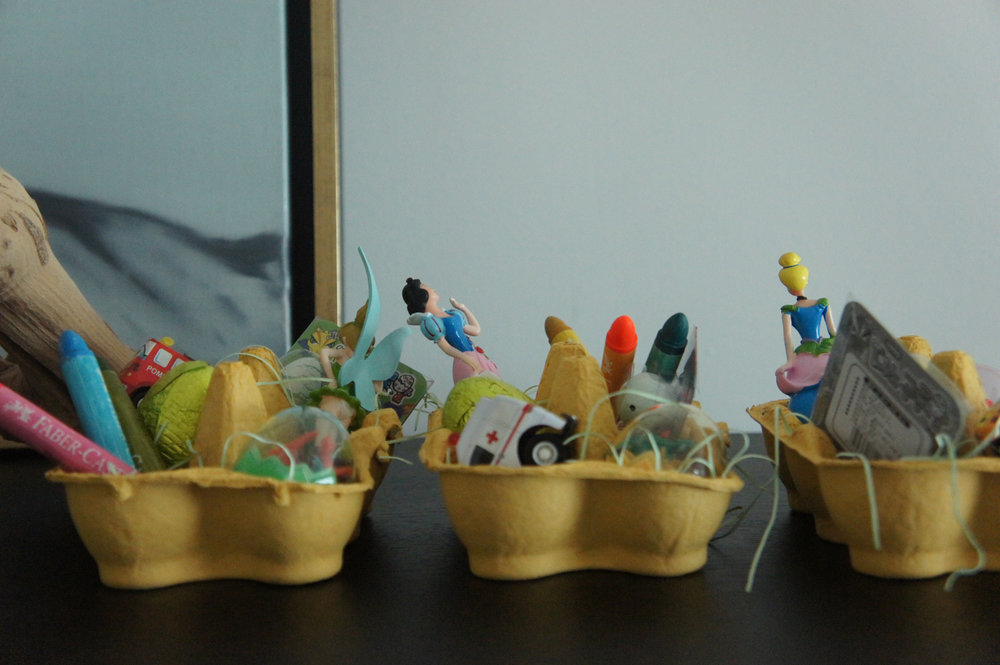 easter gift bags and kids baskets.JPG