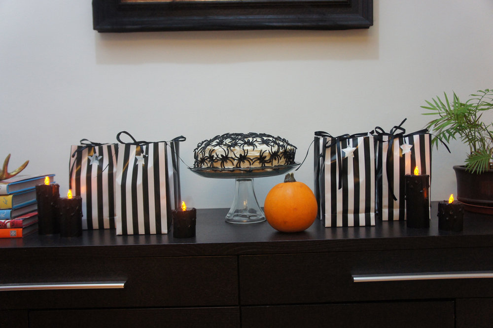 halloween cake and party bags.jpg