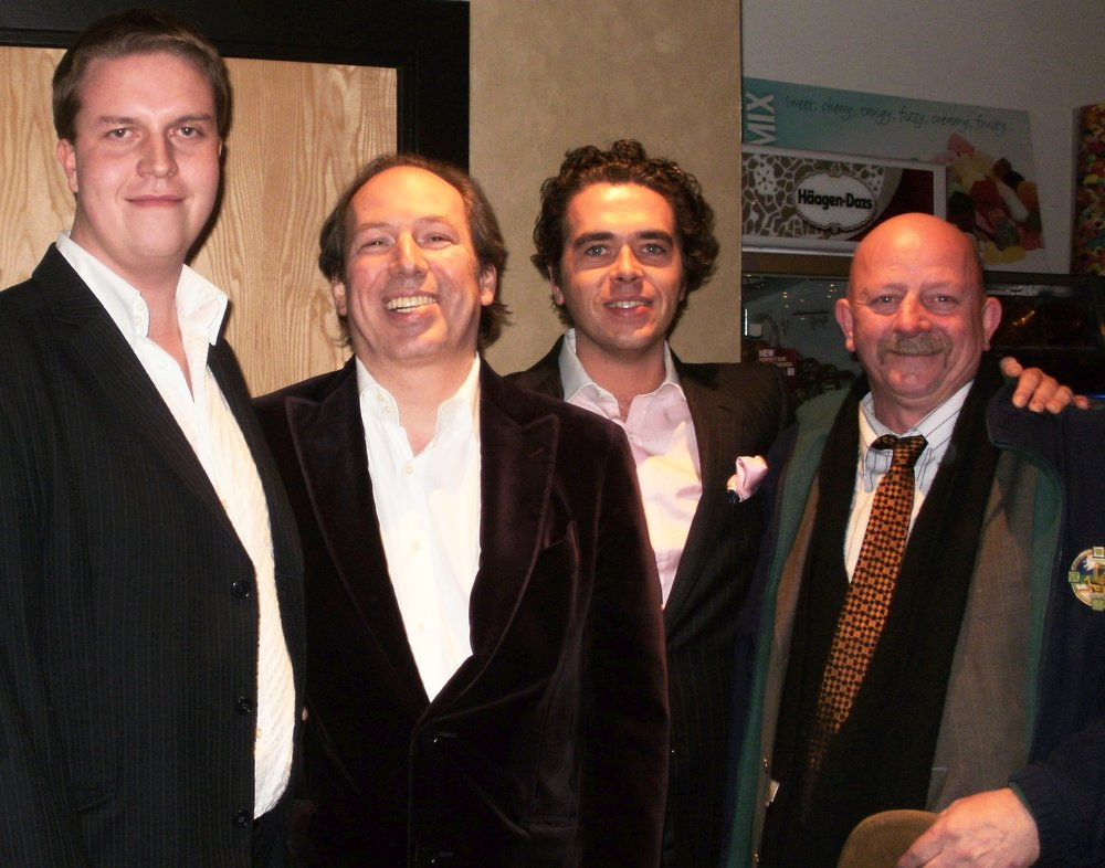 With Hans Zimmer, Lorne Balfe, and Kevin Finucane at the premiere of Sherlock Holmes