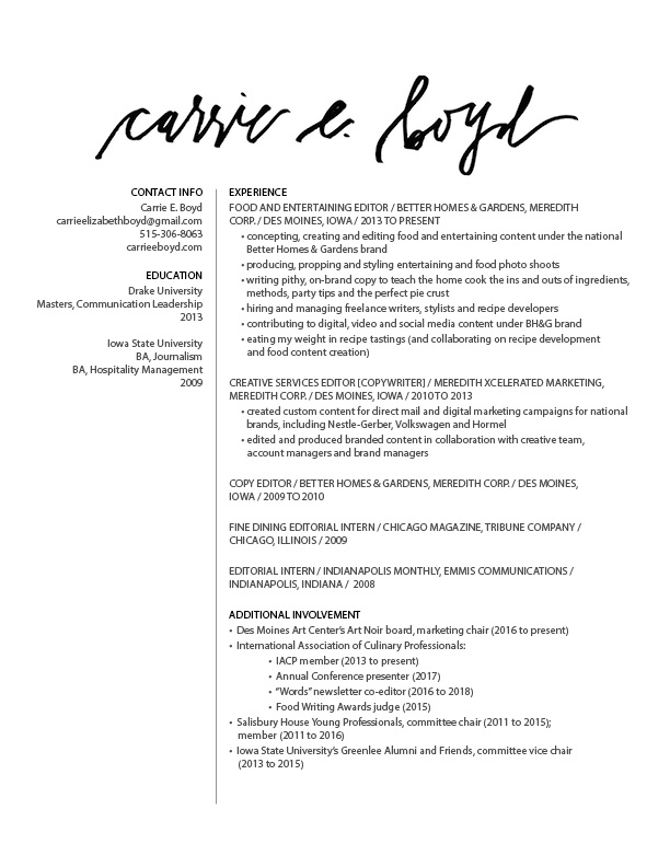 Resume Content | Cover Letter