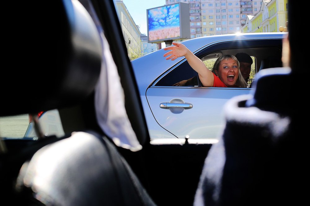 Norilsk - Happy Russian Woman in a Car