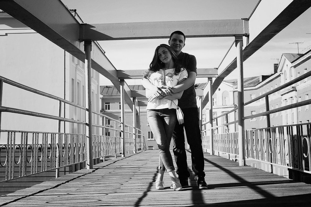 Norilsk - Young Russian Couple in Black and White