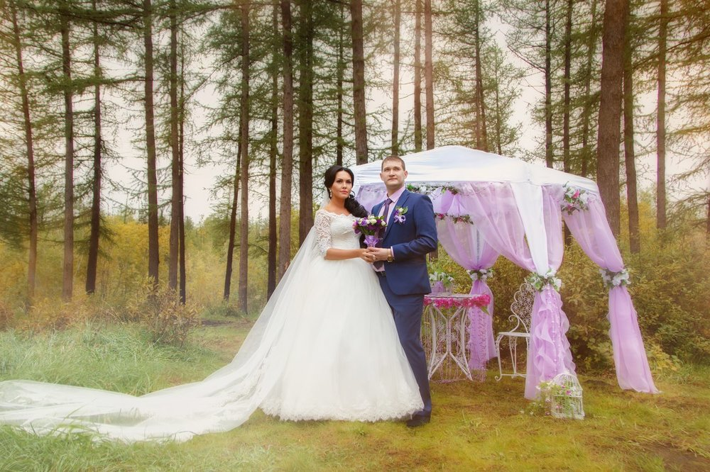 Norilsk - Russian couple in love in the wood