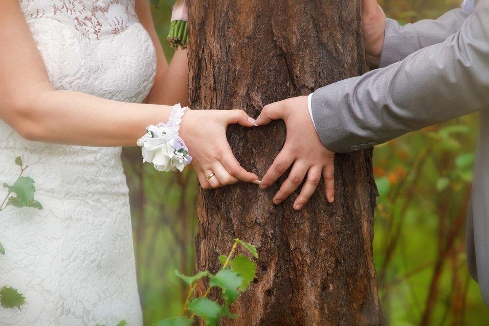 Norilsk - Russian couple in love make a heart