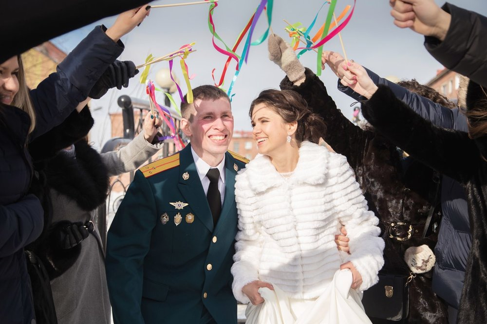 Norilsk people -  Happy Russian couple live in love their wedding