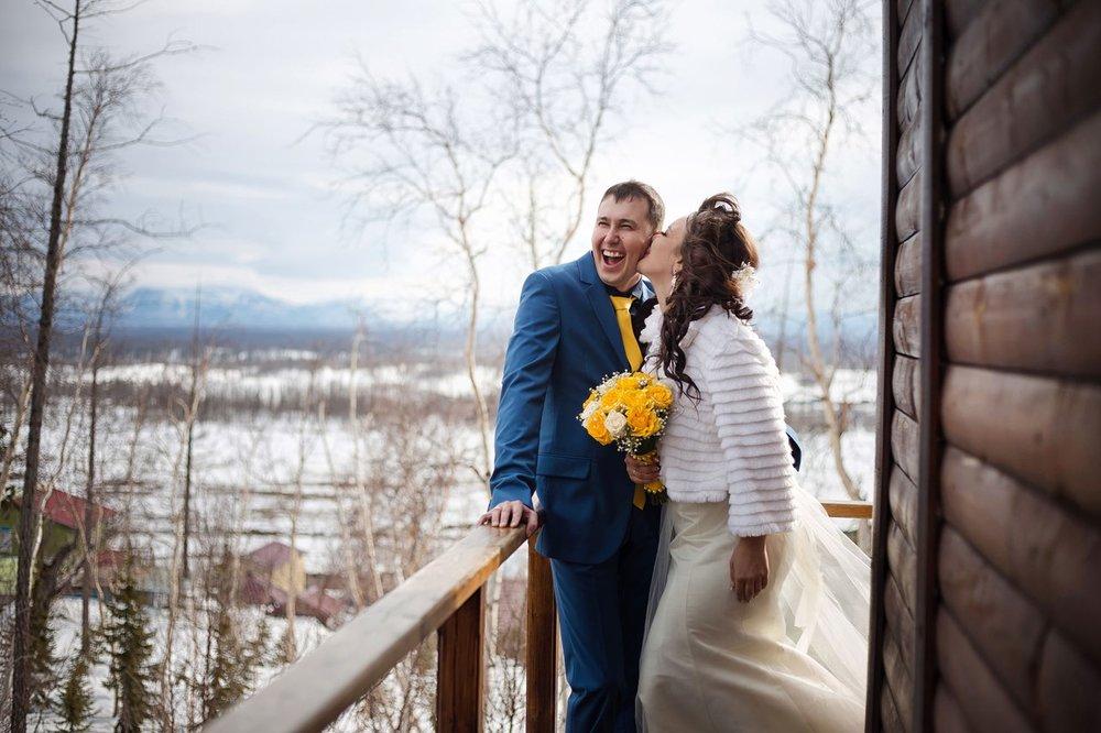 Norilsk live - Beautiful and smiling couple in love from Russia