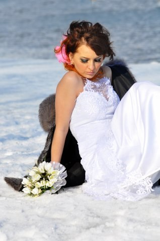 Norilsk Siberia -  Russian bride on the snow