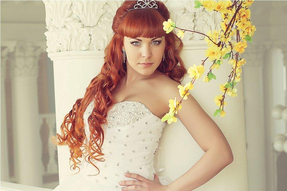 Beautiful russian redhead bride