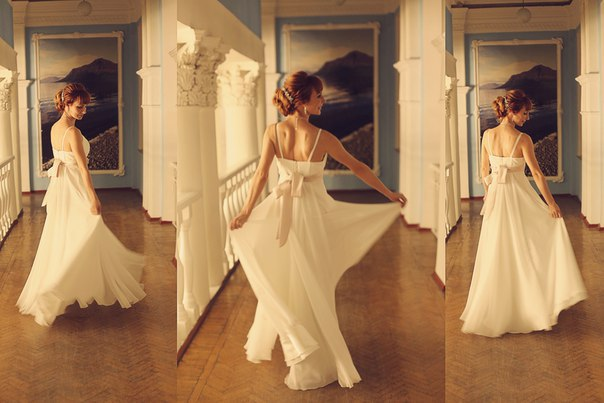 Norilsk life - Beautiful bride in three poses