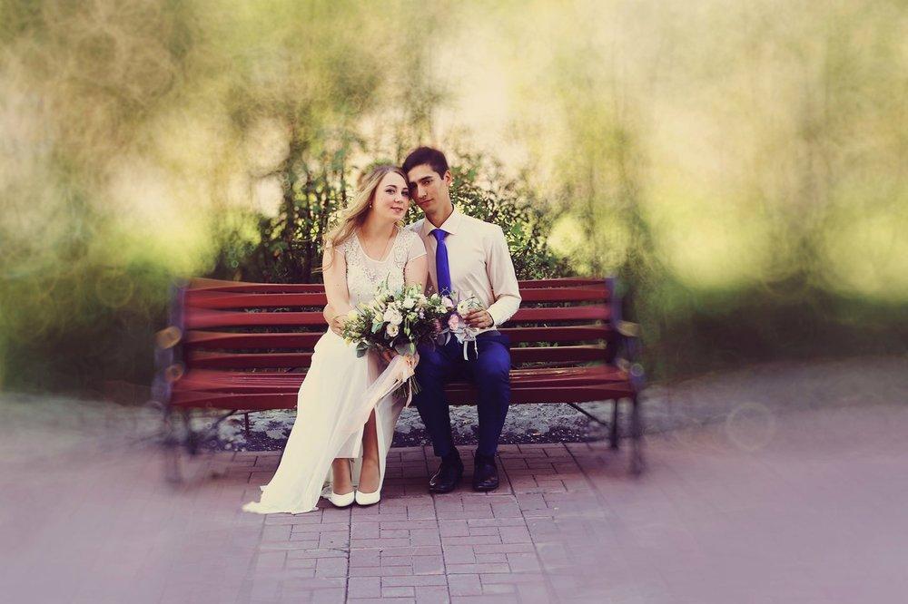 Norilsk life - Couple sitting on a bench