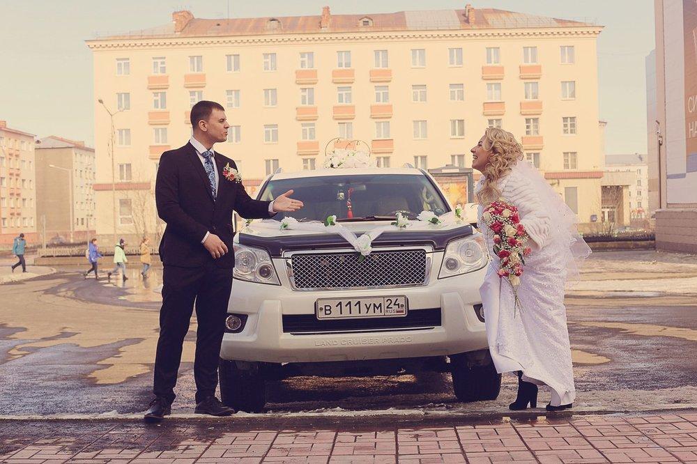 Norilsk People: Russian bride and groom in love