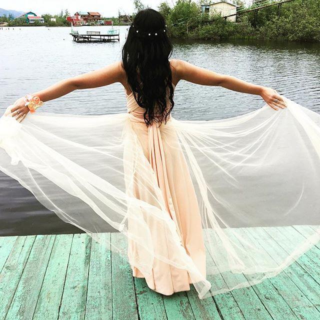 Norilsk people: Beautiful bridesmaid dreaming of love