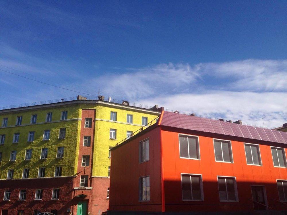 Norilsk Russia: Blue skies in Siberia