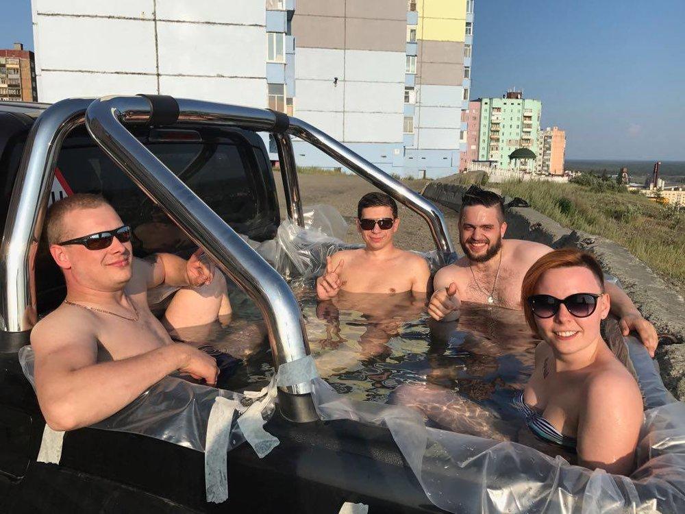 Norilsk, Siberia, Russia: No jacuzzi? No problem