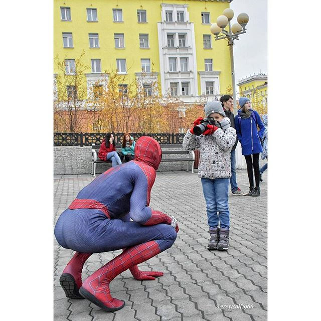 Norilsk - Spiderman and Batman serving and protecting