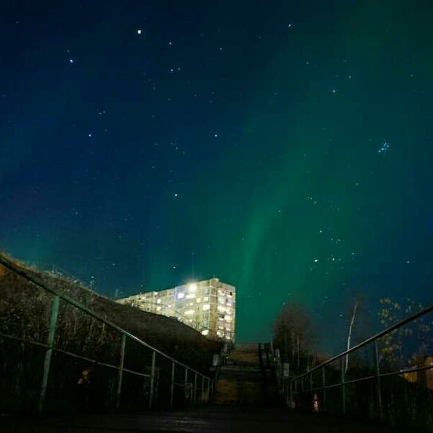Norilsk - Beautiful Aurora Borealis