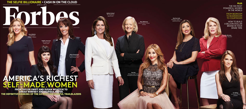 Cover of Forbes 2016 Self-Made Women Issue