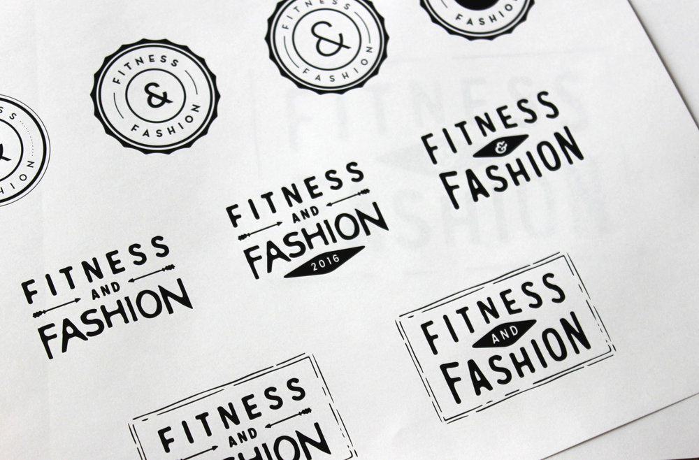 Fitness and Fashion Logo Variations