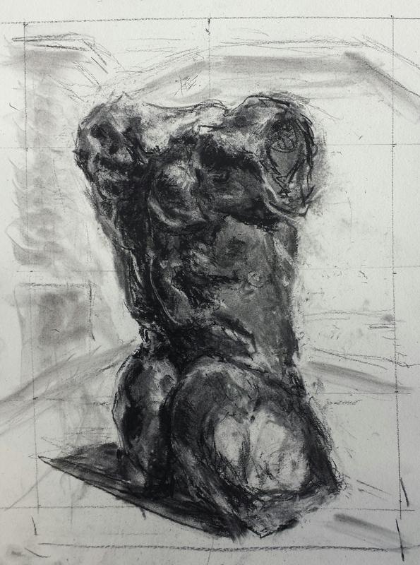 Falling Man, after Rodin
