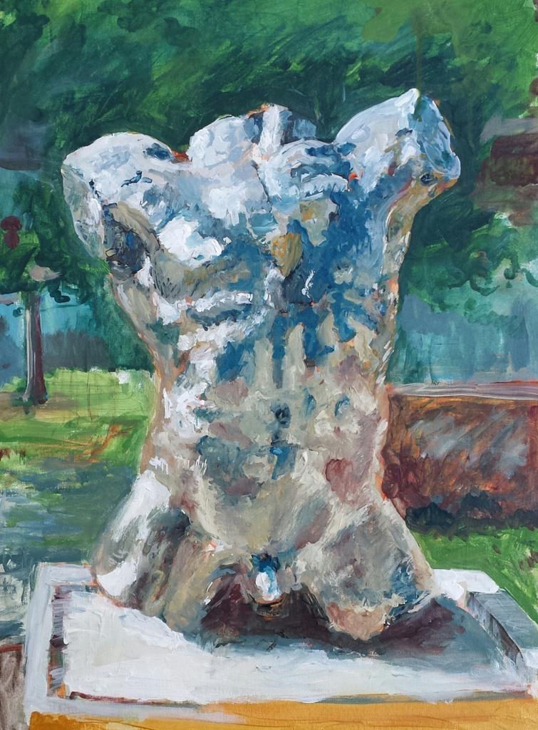 Falling Man, Marsyas, after Rodin