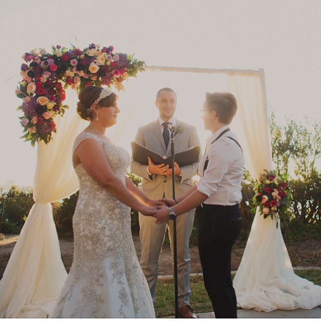 Reminiscing about Alicia & Meg's gorgeous 2015 #fallwedding in #LaJolla on this #tbt!