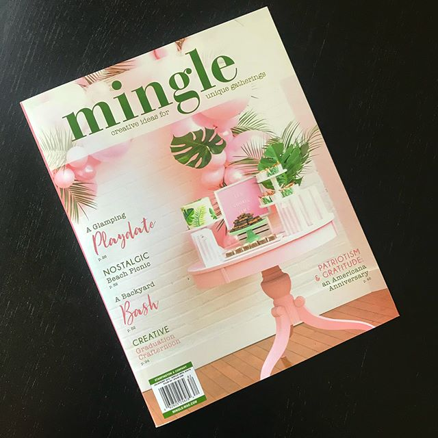 Getting some major #party design #inspo from #MingleMagazine's latest issue!