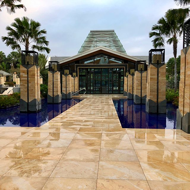 We are in #BALI! Scoping out an amazing, breathtaking #weddingvenue - the #EternityChapel at the #Mulia.