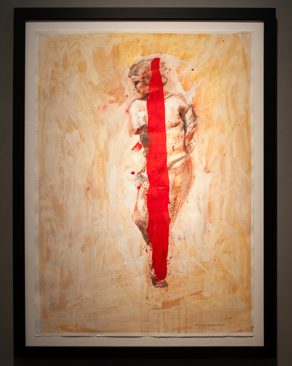 Wounded Desire acrylic, gesso, graphite, sanguine Conté on paper 47.5 x 35.5 inches LJA 178G