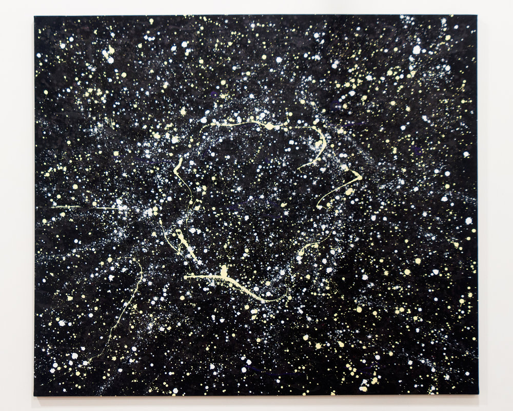 Celestial Sky acrylic on canvas 60 x 70 x 1.5 inches TMO 021G