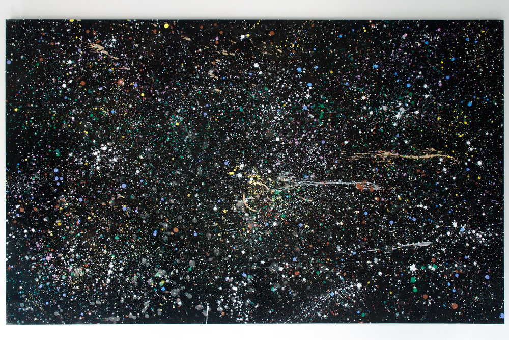 I & I Infinite Universe acrylic, gesso on canvas 48 x 78 x 1.5 inches TMO 003G