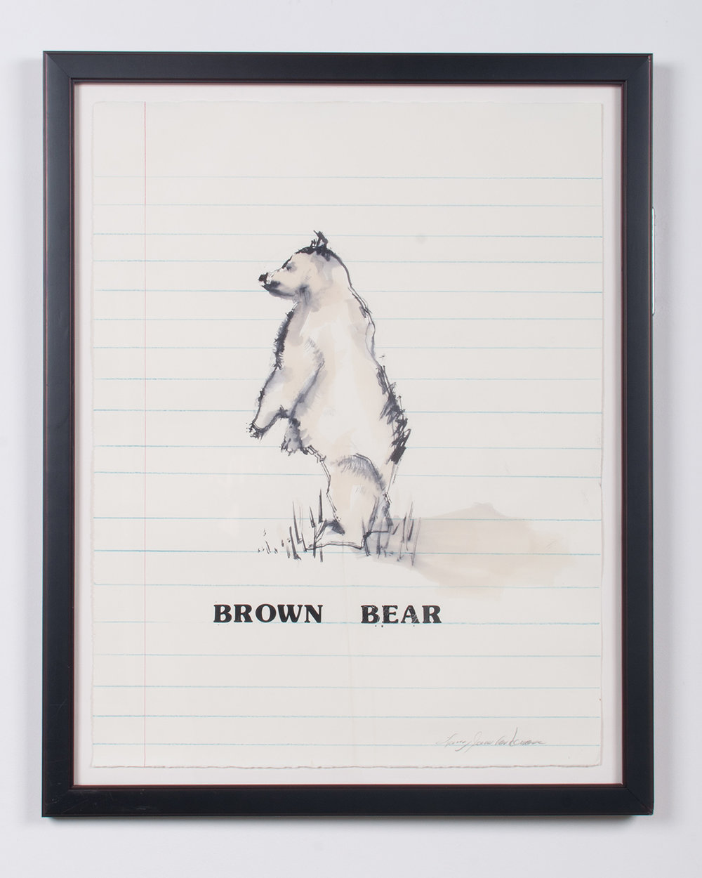 Brown Bear ink, watercolor, colored pencil, vinyl 30.25 x 24 LJA 154G