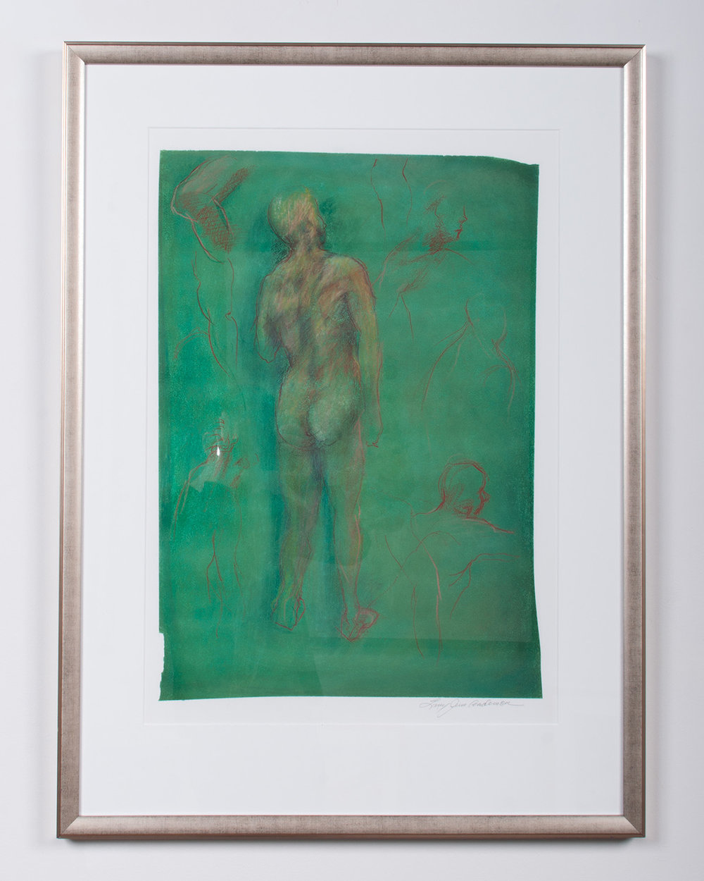 Figure Study for Terry pastel and colored pencil on paper 34 x 23 LJA 141G